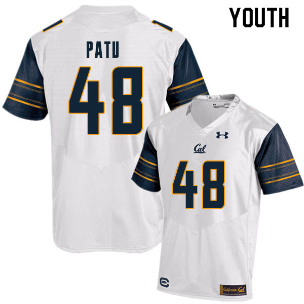 Youth #48 Orin Patu Cal Bears College Football Jerseys Sale-White